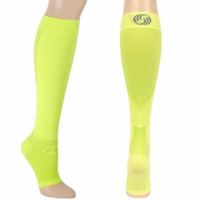 OrthoSleeve FS6+ Foot and Calf Compression Sleeves - Large - Reflector Yellow