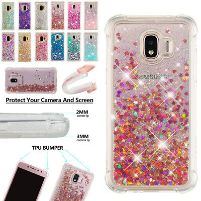 Samsung Galaxy J2 Pro 2018 Shockproof Liquid Glitter Quicksand Soft Case Cover