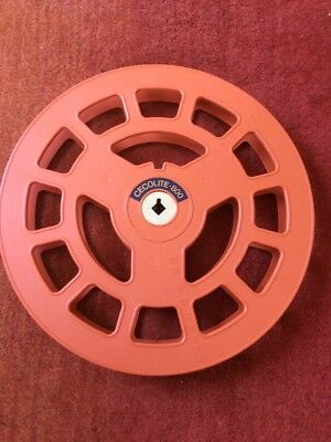 Vintage Cecolite 800ft 16mm Orange Plastic Movie Film Reel Spool