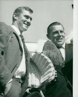 Wally Grout and Bob Cowper - Vintage photo