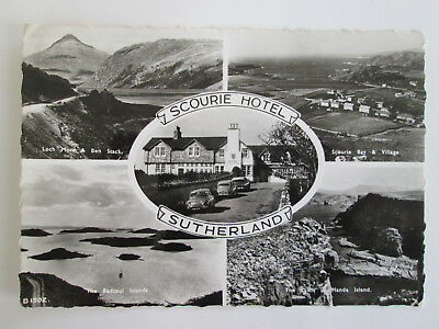 Old RP Postcard - Scourie Hotel , Sutherland , Highlands , Scotland .