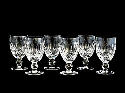 6 Waterford Crystal Colleen Claret Red Wine Glasses
