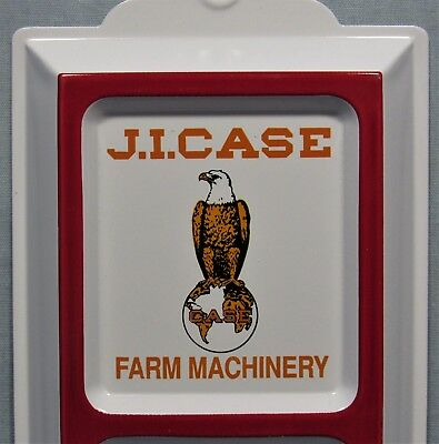 Case Farm Machinery ~ Embossed Tin Thermometer