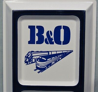 B&O Railroad Logo ~ Embossed Tin Advertising Thermometer