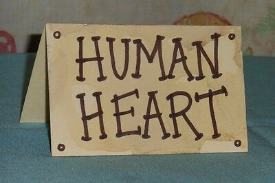 """original Rob Zombie's HOUSE OF 1000 CORPSES """"HUMAN HEART"""" museum sign prop"""
