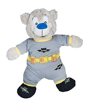 """Batboy PJ's W/Slippers Teddy Bear Clothes Outfit Fits Most 14"""" - 18"""" Build-A-..."""