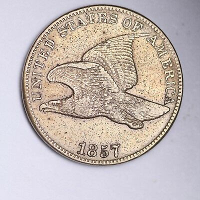 1857 OBV OF 1856 Flying Eagle Small Cent CHOICE XF FREE SHIPPING E104 KBB