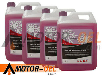 20 (4x5) Liter ROWE HIGHTEC ANTIFREEZE AN 12++  Made in Germany
