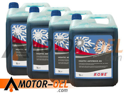 20 (4x5) Liter ROWE HIGHTEC ANTIFREEZE AN Made in Germany