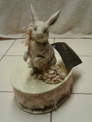 Katherine's Collection Victorian Bunny Rabbit Box NWT