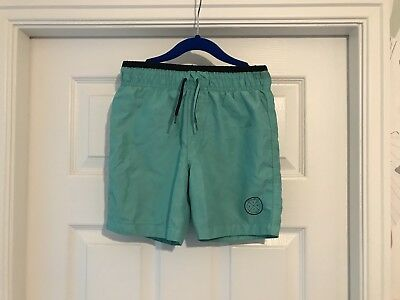 Blue or Green//Blue with Fish Primark Swimming Shorts Boys Bright Green Red
