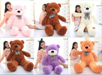 Plush 60-140cm Teddy Bear Large Toys Kids Teddy Bear Giant Teddy Bears Big Soft^