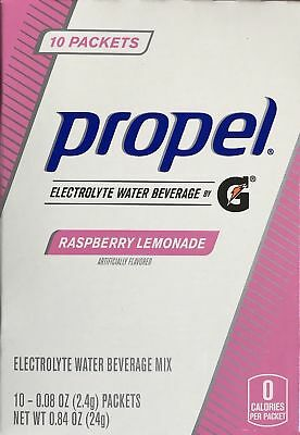6 Boxes PLUS 1 EXTRA Propel Raspberry Lemonade Water Drink Mix(60 Packets Total)