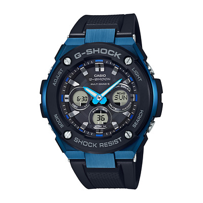 Mens Casio G-Shock Black & Blue Mens Digital Watch GST-W300G-1A2ER-B RRP £299