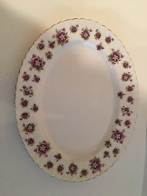 Beautiful Royal Albert Sweet Violets Oval Platter 13 Inch