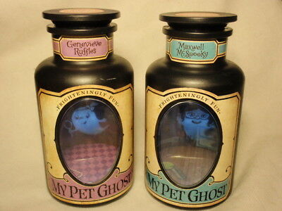 Hallmark Lot of 2 My Pet Ghost: Maxwell McSpooky & Genevieve Ruffles *WORKS*