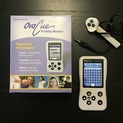 OvaCue Fertility Monitor with Oral Saliva Sensor by Fairhaven Health, Pre-Owned
