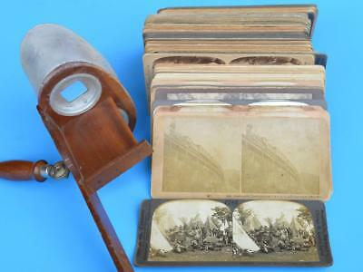 Stereoview Stereoscope Viewer Card Antique Lot US New York Washington DC WWI RR