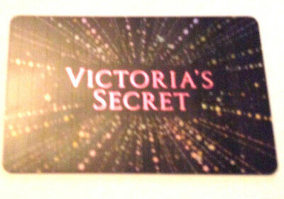 new 2018 Victoria's Secret Sparkly Gift Card No $ Value Collectible reloadable