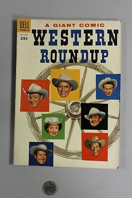 RARE Western Roundup DELL GIANT 11 1955 Fine+ Photo Cover Roy Rogers Gene Autry