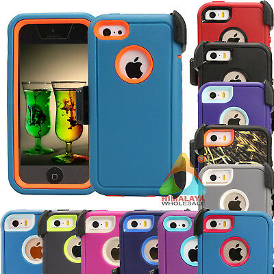 For Apple iPhone 5 5S SE 5C Case (Clip fits Otterbox Defender) B07 Holster Cover