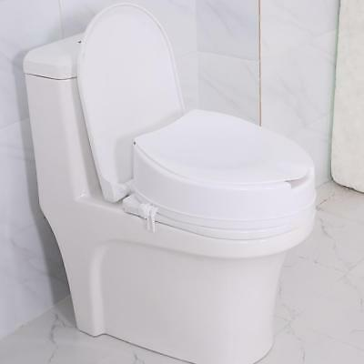 """Raised Toilet Seat ( With Lid ) - 4"""" / 10cm Height White AU"""