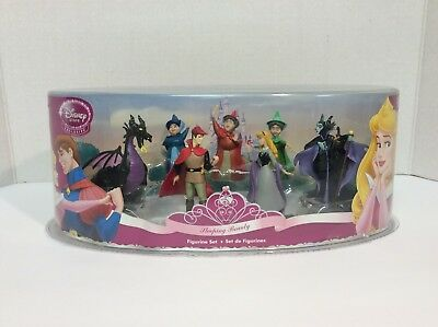 "Disney Store ""Sleeping Beauty"" 7 piece, figurine playset - RETIRED!"