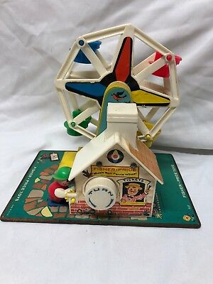 Vtg. 1966 Fisher Price Little People Play Family Ferris Wheel Tested Working
