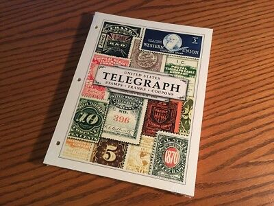 United States Telegraph Stamp Album Page Set U.S. Frank Collection Sheets