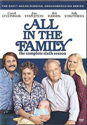 All In The Family Season 6 Complete Sixth DVD NEW Sealed, Free Shipping