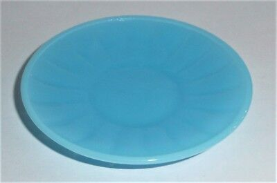 Akro Agate Small Interior Panel Saucer Blue Luster~Child Tea Set~ Have Several