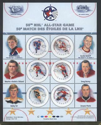 CANADA SHEET 1838 46c x 6 NHL ALL-STARS - 1  90% OF FACE