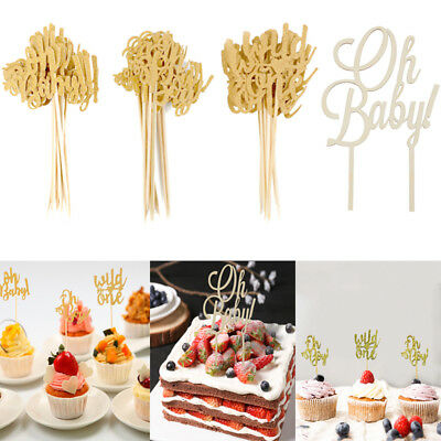 1bfe7243 1/10Pcs Glitter Oh Baby Cake Topper Baby Shower Kid Birthday Party Cupcake  Decor