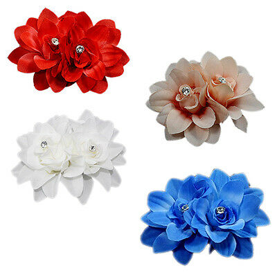Elegant Rose Flower Corsage Hair Clip Bridal Wedding Party Hairpin Brooch best
