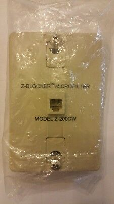 (1) DSL Filter - Excelsus Z-Blocker Z-200CW Wall - New, sealed