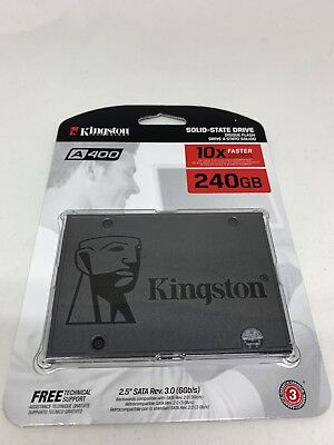 "Kingston 240GB SSD A400 2.5"" SATA 3 III 6 Gb/s SA400S37/240G Solid State Drive X"