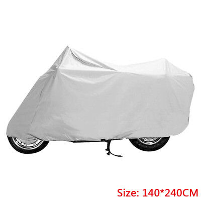 XL Silver Gray Motorcycle Rain Dust Cover Protector Waterproof Electric Car Bike