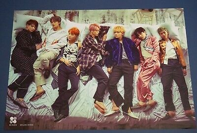 BTS Bangtan Boys - Wings 2nd Album Unfolded Poster HARD TUBE CASE