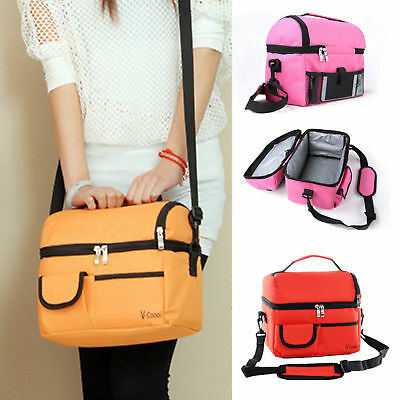 Large Insulated Lunch Bag Portable Fashion School Office Food Storage Adult/Kids