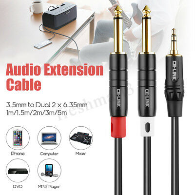 3.5mm AUX Cable Stereo Audio Extension Male to Male Auxiliary 1M 1.5M 2M 3M 5M