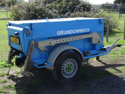 Grundowinch KW 3000 3T Ton Bagela Trailer Mounted Diesel Cable Winch