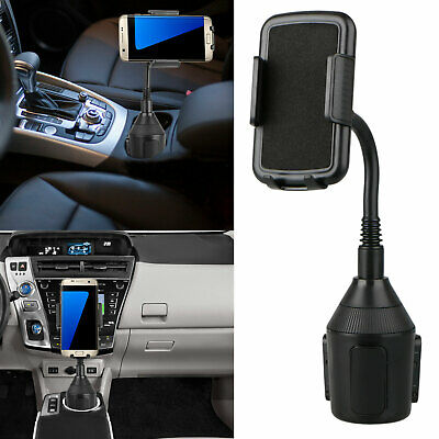 Universal Car Mount Adjustable Gooseneck Cup Holder Cradle Stand for Cell Phone