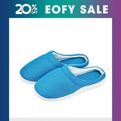 Summer Women Men Bamboo Gel Slippers Anti-fatigue Comfortable Sandals Shoes AU