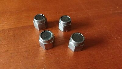 Set Dadi Stringimozzo Bianchi Topazio Neri Original Black Vintage Nuts For Hubs