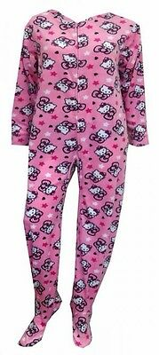 Sanrio Hello Kitty Footed Pajamas Pink Footie 1 PC S M L or XL NWT ALMOST GONE