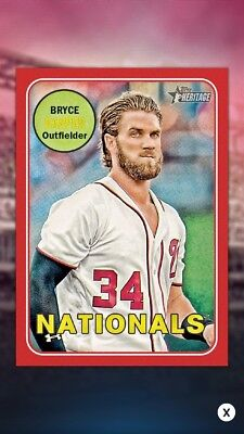 Topps Bunt 2018 Heritage All Star Bryce Harper **Digital Card**