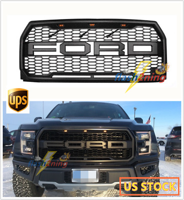 Raptor Style Conversion Front Grille w/LED/F&R For 2015-2017 Ford F-150 F150 L2