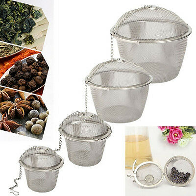 New Stainless Steel Ball Tea Strainer Infuser Mesh Filter Loose Leaf Spice P FJ