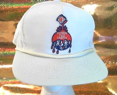 VINTAGE Sherwin Williams Ball Cap Hat Sherwood Promotions Leather Strapback