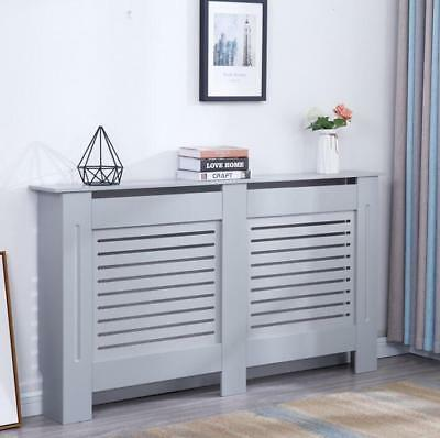 Modern Radiator Cover Wood MDF Wall Cabinet Grey - in 4 Sizes